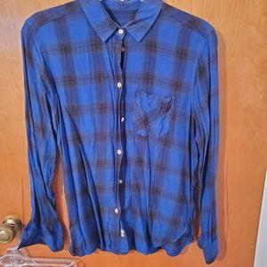 Sz M American Eagle Blue Flannel
